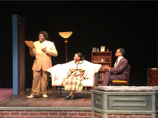 From L to R, Guy (Eric Squirewell, Jr.), Delia (Jazsmin Smith), and Sam (Malcolm Parker)