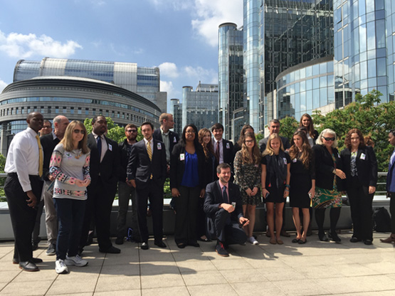FMU Students at European Academy of Oztenhausen (Germany) trip to Brussels (2016)